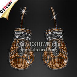 Boxing Pattern Studs Custom Hot Fix Transfer for T Shirts