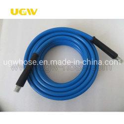 Color azul 3/8 1/2 de pulgada Manguera de limpieza limpiador de alta presión 4000 psi ~ 6000 Psi Auto lavado lavado Jet coloridos flexible