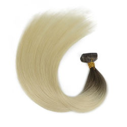 최신 인기 상품 20PCS 브라질 Virgin Remy 피부 씨실 테이프 접착성 머리 연장 제품 #1b 까만 100g