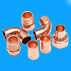 Kupferne Rohrfittings für Rohrleitung und Gas