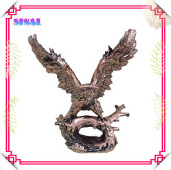 Polyresin Aguila de cobre chapado de escultura de Arte para el hogar decoración de oficina
