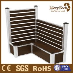 Le WPC clôture en bois Panneau en aluminium- peuvent s'asseoir sur les boîtes