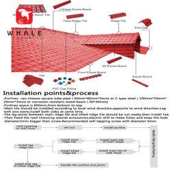 Installazione impermeabile della vite per l'accessorio di plastica delle mattonelle di tetto del PVC dell'asa