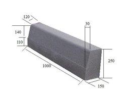 Flammé Curbstone de granit, de granit freiner