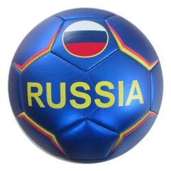 Metall und Laser Leder Maschine-genäht Fußball / Fußball Ball Custom Logo OEM-Wasserdicht