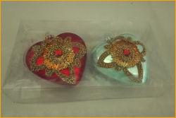 Два вида из стекла ручной работы сердца украшения