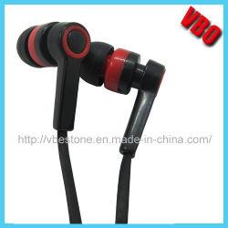 Neuer Entwurf Earbuds preiswerter InOhr Kopfhörer mit Flachkabel