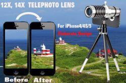 Objektiv des Telefoto-14x für iPhone5/iPhone4/4s mit Stativ und Fall