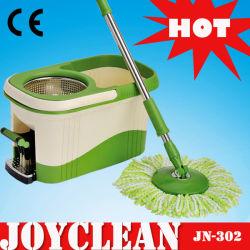 Produits Joyclean nouveau téléviseur avec la tête de balai de nettoyage en microfibre Spin Mop (JN-302)