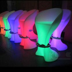 충전식 배터리 LED 바 테이블 의자