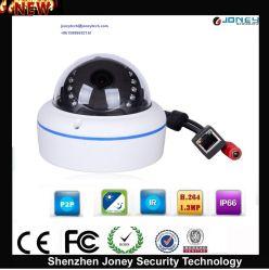 Dôme en métal Vandalproof 1080P l'ONVIF Plug and Play Caméra IP CCTV (POE)