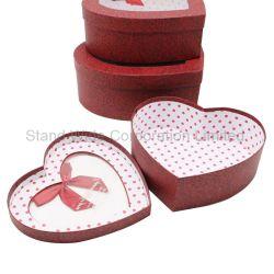 Forme de coeur Boîte Cadeau de bonbons de papier/boîte d'emballage carton avec fenêtre