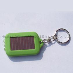 Energia solare di plastica resa personale marchio su ordinazione LED infiammante Keychain di modo