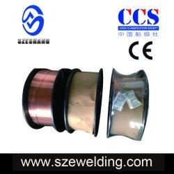 Aws A5.18 ER70S-6 de CO2 Gas-Shielded MIG MIG sólido de llenado de los cables de soldadura