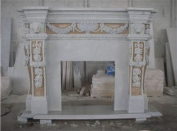 La piedra arenisca mármol granito estufa de chimenea de piedra caliza tallada manto