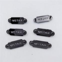 Boa qualidade de galvanoplastia Placas Brilhante Logotipo Bolsas Etiquetas de chapa de metal para vestuário Tag Logotipo Metal personalizada