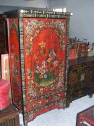 Muebles antiguos chinos - Mueble tibetano