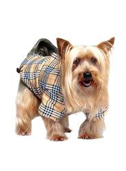 검사한 패턴 개 외투 착용 애완 동물 재킷 겨울은 의복을 입는다
