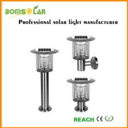 angeschaltener Solarmörder des Moskito-3W, Solargarten-Licht mit Moskito-Mörder, UVlicht-Insekt-Mörder