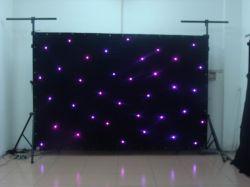 工場4m*8m DMX RGB LED星のカーテンの背景のビデオスクリーン