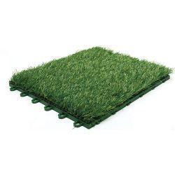 Venta caliente Jardinería Césped Artificial sintético con Happy alfombra mosaico Precio