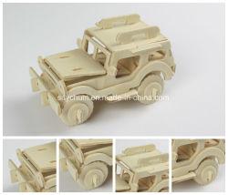 Les puzzles en bois 3D enfants adultes Puzzles jouets en bois du véhicule