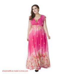 2020 نساء [مإكسي] ثوب [بوهو] [شفّون] خاصّ بالأزهار يطبع طويلة ثياب [ف-نك] فعليّة حجم ثوب مثمرة