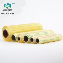 L'involucro trasparente biodegradabile di stirata del PVC di migliori prezzi aderisce pellicola