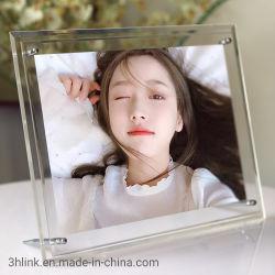 La última imagen el marco de fotos acrílico regalo promocional para la decoración del hogar