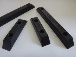 Amortiguador de goma moldeados en forma personalizada para la carretilla