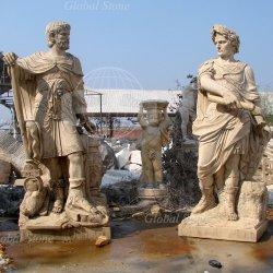 Estatua de piedra tallada de mármol de los hombres escultura figura