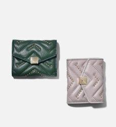 Coeur Quilting cuir synthétique Lady Fashion détenteur de carte Coin Purse Wallet