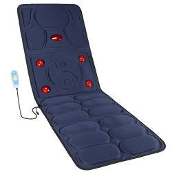 Elektrisches Infrarot lebhaftes vibrierendes volles Karosserie Shiatsu Massage-Matratze-Stutzen-Schulter-Rückseiten-Schwingung-Heizungs-Matten-Sitzmassager-Kissen