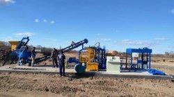 구체적인 포장 기계를 위한 자동적인 비산회 벽돌 만들기 기계 Qt4-15 벽돌 절단기 기계