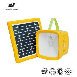 Luz LED linterna solar portátil con radio FM para el hogar y la iluminación de camping