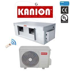 European plein DC INVERTER R410 50Hz type de conduit de refroidissement et le chauffage de la climatisation