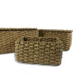 Les zostères oeufs de poulet Handwoven naturel de l'eau de la paille Hycinth Panier sac adapté pour contenant des fruits