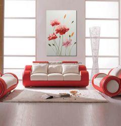 Handgemachte moderne rosafarbene Blumen-Segeltuch-Gruppen-Ölgemälde