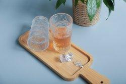 Matt soplado transparente con forma de martillo directamente de la copa de vidrio cristalería