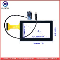 Sensor van de Aanraking van 5.5 Duim de Capacitieve Multi met VoorGlas voor de Handbediende Apparaten van de Aanraking