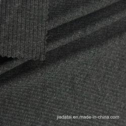 Mélange de polyester coton élastique gris Tissu à nervure pour chemise