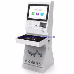 Diseño especial 19pulgadas de pantalla táctil quiosco de la biblioteca con el lector RFID