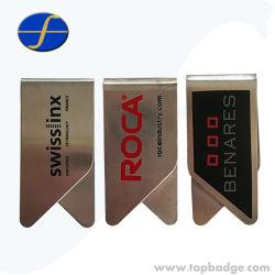 Cadeau promotionnel Logo personnalisé les pinces à papier bon marché clips métalliques de signets
