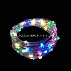 Xmas 5m 50LED lumière LED Chaîne cuivre Fairy DC 12V décoration chambre d'arbre de Noël à LED rouge Twinkle Feux de chaîne
