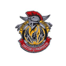 編まれたカスタム3Dロゴの衣服はパッチの紋章ファブリックトリミングの首の軍の軍隊のフラグの学校の織物の警察のラベルPinの衣服の刺繍のラベルを刺繍した