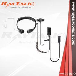 Walkie Talkie mayorista de auriculares de conducción ósea micrófono de radio de la garganta 2 Auricular con micrófono
