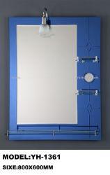 브라운 3개의 선반을%s 가진 분홍색 파란 색깔 두 배 은 벽 목욕 미러