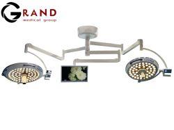 Fabrication de l'hôpital salle d'exploitation Système d'éclairage Double Shadowless LED pour montage au plafond du Dôme de chirurgie de la lumière avec la caméra TV