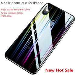 Geval van de Telefoon van het Glas van de Kleur van de Gradiënt van de dageraad het Transparante Aangemaakte Mobiele voor iPhone