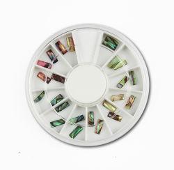 Seashell Stripes Nagel-Zusatzgerät, Nagel-Schönheit, Nagel-Kunst, Baby-Felder, Maniküre, Nagel-Zubehör, Nagel-Produkt, der Nagel, der, die Nagel-Kunst blendet, die blendet und blendet, Oblate
